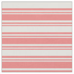 [ Thumbnail: Light Coral & Light Cyan Striped Pattern Fabric ]