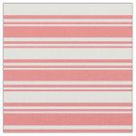 [ Thumbnail: Light Coral & Light Cyan Striped Pattern Fabric ]