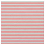 [ Thumbnail: Light Coral & Light Gray Pattern of Stripes Fabric ]