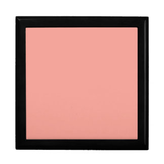 Light Coral Peach Pink Color Trend Blank Template Jewelry Boxes