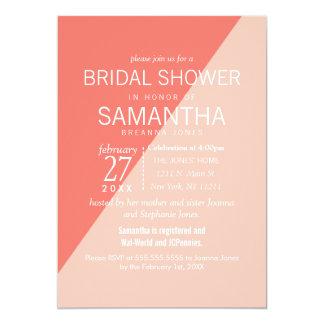 Light Coral Peach Two Tone Bridal Shower Invites