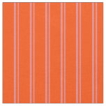 [ Thumbnail: Light Coral & Red Colored Stripes Fabric ]