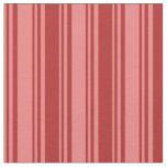 [ Thumbnail: Light Coral & Red Lines Pattern Fabric ]