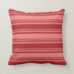 [ Thumbnail: Light Coral & Red Lines Pattern Throw Pillow ]