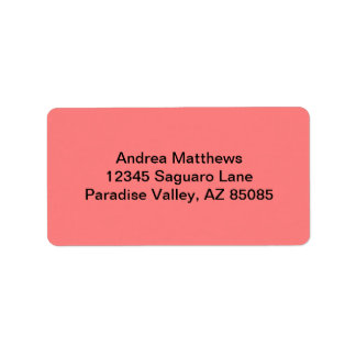 Light Coral Solid Color Label