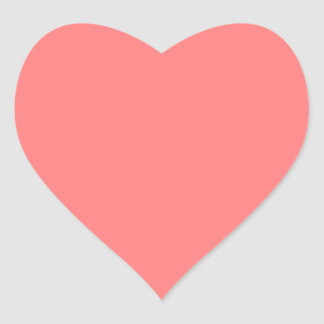 Light Coral Solid Color Heart Sticker