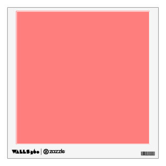 Light Coral Solid Color Wall Skin