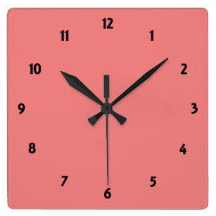 Coral Wall Clocks Zazzle