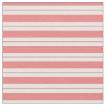[ Thumbnail: Light Coral & White Pattern Fabric ]