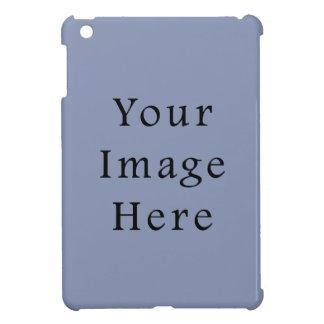 Light Cornflower Blue Color Trend Black Template iPad Mini Cases