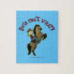 Light Cowgirl on Horse Jigsaw Puzzle