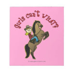 Light Cowgirl on Horse Notepad