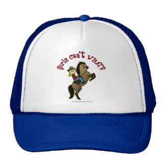 Light Cowgirl on Horse Trucker Hat