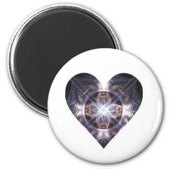Light Crossing Fractal Art Magnet