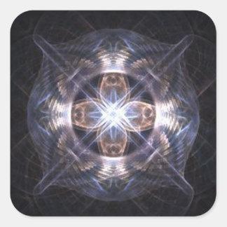 Light Crossing Square Sticker