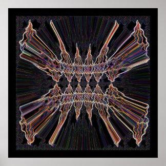 Light Crystal Spark Patterns 5 Print