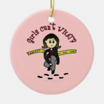 Light CSI Detective Double-Sided Ceramic Round Christmas Ornament
