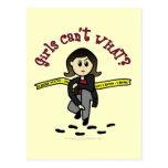 Light CSI Detective Postcard
