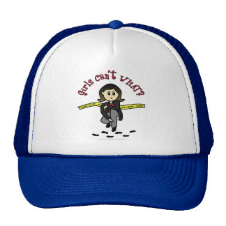 Light CSI Girl Mesh Hats
