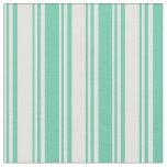 [ Thumbnail: Light Cyan and Aquamarine Lines Pattern Fabric ]