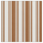 [ Thumbnail: Light Cyan and Brown Colored Lines Fabric ]