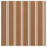 [ Thumbnail: Light Cyan and Brown Stripes Pattern Fabric ]