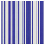 [ Thumbnail: Light Cyan and Dark Blue Colored Stripes Pattern Fabric ]