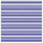 [ Thumbnail: Light Cyan and Dark Blue Stripes/Lines Pattern Fabric ]