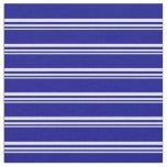 [ Thumbnail: Light Cyan and Dark Blue Stripes Pattern Fabric ]