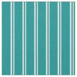 [ Thumbnail: Light Cyan and Dark Cyan Colored Striped Pattern Fabric ]