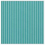 [ Thumbnail: Light Cyan and Dark Cyan Lines/Stripes Pattern Fabric ]