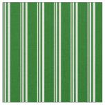 [ Thumbnail: Light Cyan and Dark Green Lines/Stripes Pattern Fabric ]