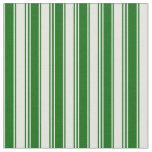 [ Thumbnail: Light Cyan and Dark Green Stripes Pattern Fabric ]
