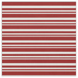 [ Thumbnail: Light Cyan and Dark Red Lined Pattern Fabric ]