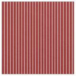 [ Thumbnail: Light Cyan and Dark Red Stripes Pattern Fabric ]