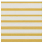 [ Thumbnail: Light Cyan and Goldenrod Stripes Fabric ]
