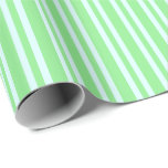 [ Thumbnail: Light Cyan and Light Green Colored Lines Wrapping Paper ]