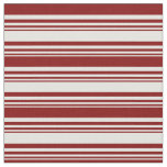 [ Thumbnail: Light Cyan and Maroon Colored Lines Pattern Fabric ]