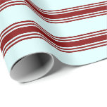 [ Thumbnail: Light Cyan and Maroon Colored Lines Wrapping Paper ]