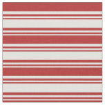 [ Thumbnail: Light Cyan and Red Colored Stripes Fabric ]