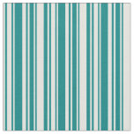 [ Thumbnail: Light Cyan and Teal Colored Lined/Striped Pattern Fabric ]