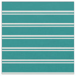 [ Thumbnail: Light Cyan and Teal Colored Stripes Fabric ]