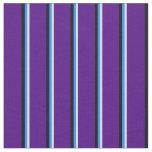[ Thumbnail: Light Cyan, Blue, Black & Indigo Pattern Fabric ]