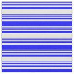 [ Thumbnail: Light Cyan & Blue Pattern of Stripes Fabric ]