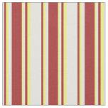 [ Thumbnail: Light Cyan, Brown, and Yellow Pattern Fabric ]