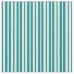[ Thumbnail: Light Cyan & Dark Cyan Pattern of Stripes Fabric ]