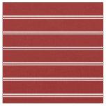 [ Thumbnail: Light Cyan & Dark Red Pattern of Stripes Fabric ]