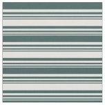 [ Thumbnail: Light Cyan & Dark Slate Gray Lines Fabric ]