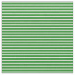 [ Thumbnail: Light Cyan & Forest Green Colored Stripes Fabric ]
