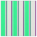 [ Thumbnail: Light Cyan, Green, and Purple Colored Lines Fabric ]